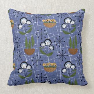 Mid-Century Modern | Blue | Household Plants Cushion