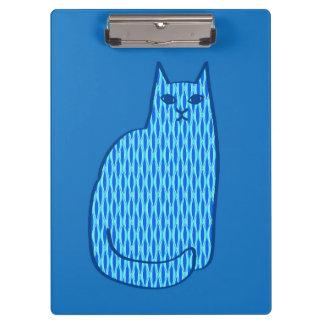 Mid-Century Modern Cat, Cobalt and Light Blue Clipboard