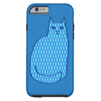 Mid-Century Modern Cat, Cobalt and Light Blue Tough iPhone 6 Case