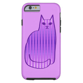 Mid-Century Modern Cat, Orchid and Purple Tough iPhone 6 Case