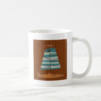 Mid Century Modern Christmas Tree Coffee Mugs