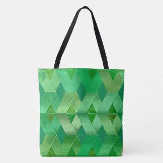 Mid-Century Modern Diamond Print, Jade Green Tote Bag