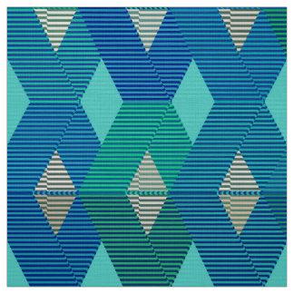 Mid-Century Modern Diamond Print, Turquoise Fabric