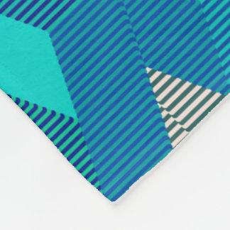 Mid-Century Modern Diamond Print, Turquoise Fleece Blanket
