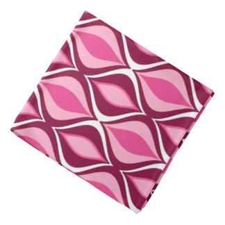 Mid-Century Modern Diamonds, Burgundy & Pink Bandana