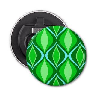 Mid-Century Modern Diamonds, Emerald Green Bottle Opener