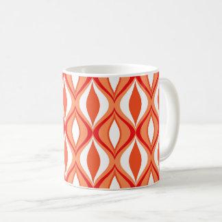 Mid-Century Modern Diamonds, Orange & White Coffee Mug