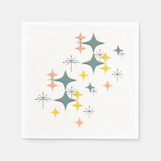 Mid Century Modern Eames Atomic Starbursts Custom Disposable Napkin