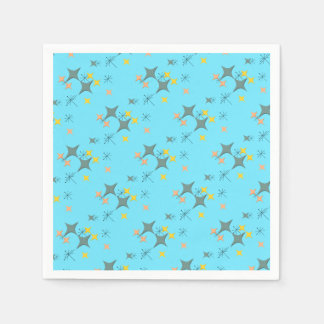 Mid Century Modern Eames Atomic Starbursts Custom Paper Napkins