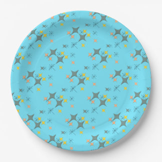 Mid Century Modern Eames Atomic Starbursts Custom Paper Plate