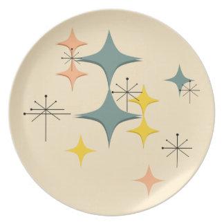 Mid Century Modern Eames Atomic Starbursts Custom Plate