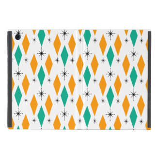 Mid Century Modern Era Diamonds Orange Turquoise Case For iPad Mini