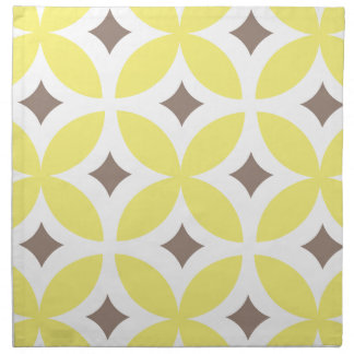 Mid-Century Modern Flower Pattern Napkin