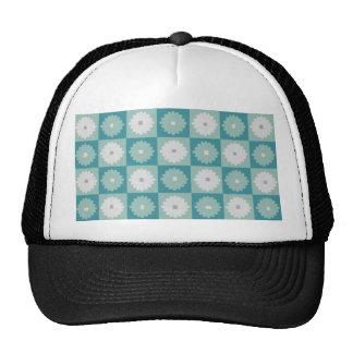 Mid Century Modern Geometric Flowers Trucker Hat