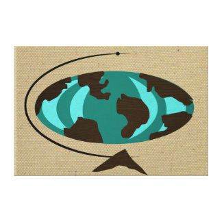 Mid Century Modern Globe Art Stretched Canvas Canvas Print