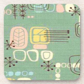 Mid Century Modern Graphic Design Cork Coasters