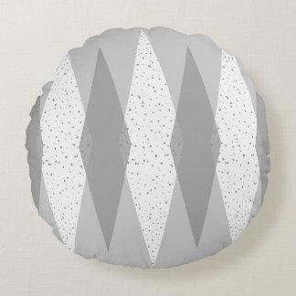 Mid Century Modern Grey Argyle Round Pillow