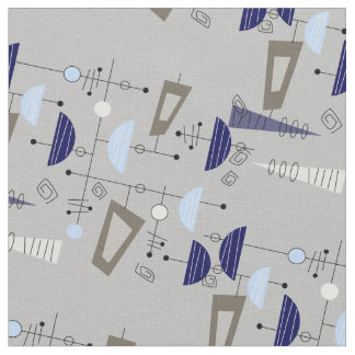 Mid-Century Modern Half Moons Design Fabric 12