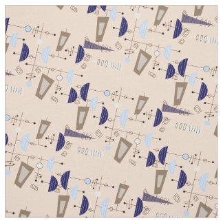 Mid-Century Modern Half Moons Design Fabric 13