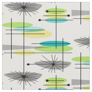 Mid-Century Modern Half Moons Design Fabric 28