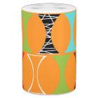 Mid Century Modern Orange Pattern Bath Set