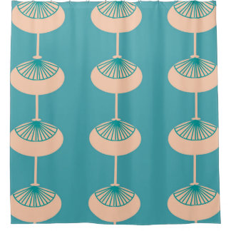 Mid-Century Modern Ovals Abstract Shower Curtain