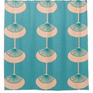 Mid-Century Modern Ovals Abstract Shower Curtain