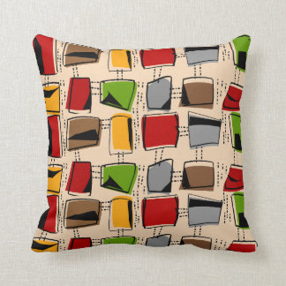 Mid-Century Modern Pillow Colorful Abstract 1