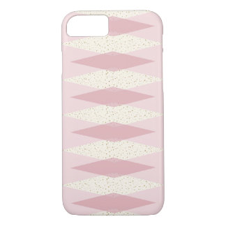 Mid Century Modern Pink Argyle iPhone Case