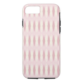 Mid Century Modern Pink Argyle iPhone/iPad Case