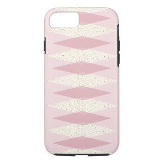 Mid Century Modern Pink Argyle iPhone / iPad Case