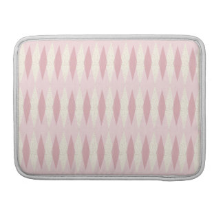 Mid Century Modern Pink Argyle MacBook Pro Sleeve