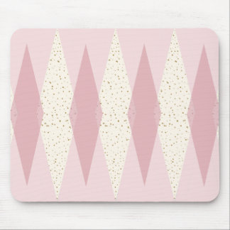 Mid Century Modern Pink Argyle Mousepad
