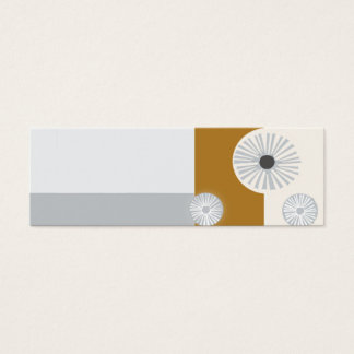 Mid/Century Modern Professional Abstract  Design Mini Business Card
