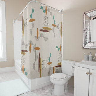 Mid-Century Modern Space Age Shower Curtain
