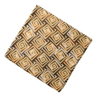 Mid-Century Modern square spirals - tan multi Bandana