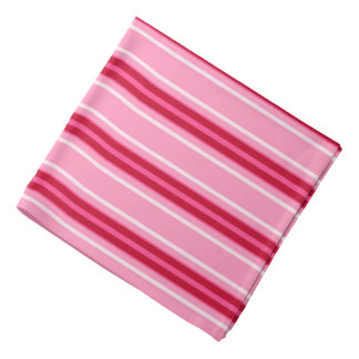 Mid-Century Modern Stripes, Pink and  Burgundy Bandanna