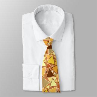 Mid-Century Modern Triangles, Mustard Yellow Tie