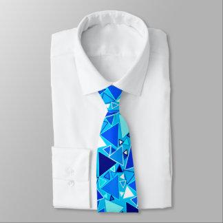 Mid-Century Modern Triangles, Shades of Blue Tie