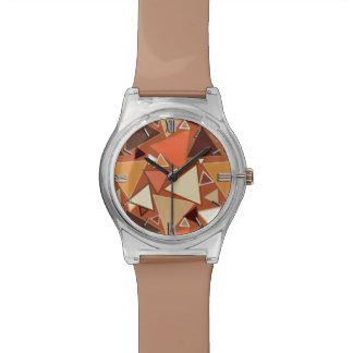 Mid-Century Modern Triangles, Tan, Brown and Beige Watch