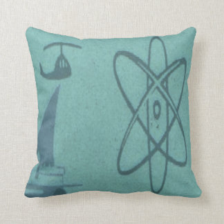 Mid Century Modern Turquoise Atomic Pillow