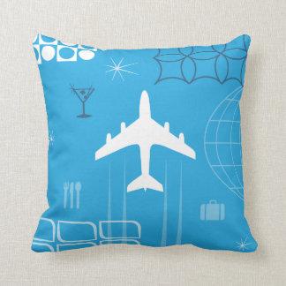 Mid-Century Retro Blue Cushion