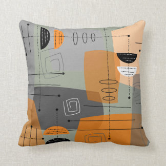 Mid-Century Space Age Abstract Cushion