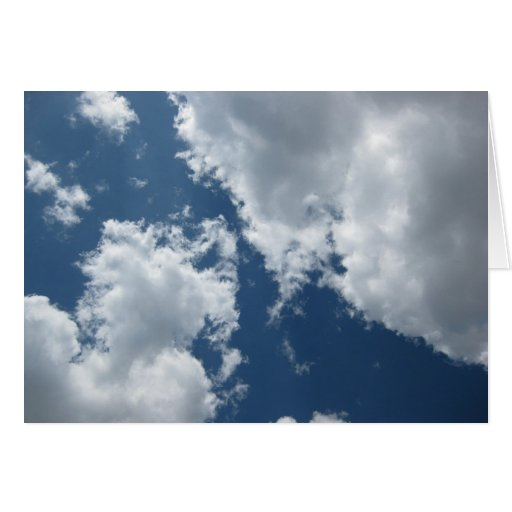 Mid-Day Clouds Note Card