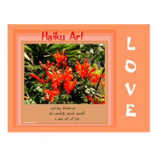 Mid-day Freshen Up Haiku Art Collectible Postcard