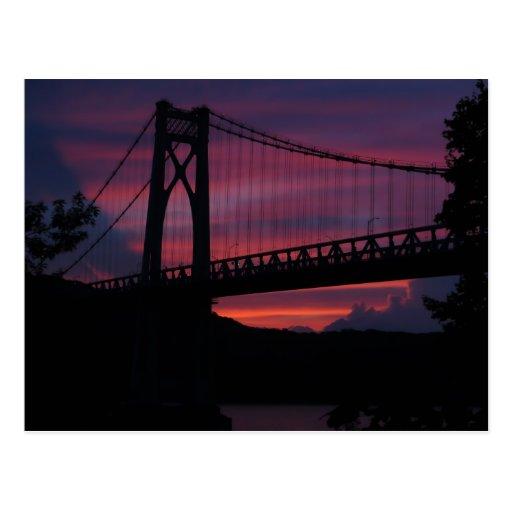 Mid-Hudson Bridge Sunset Postcard