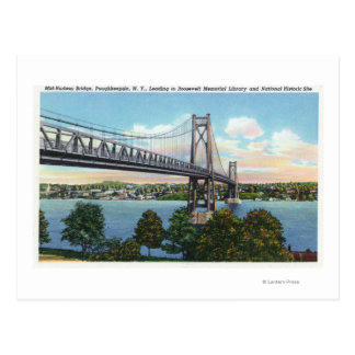 Mid-Hudson Bridge to Roosevelt Nat'l Historic Postcard