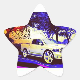 MID-KNIGHT TRUCK STOP STAR STICKER