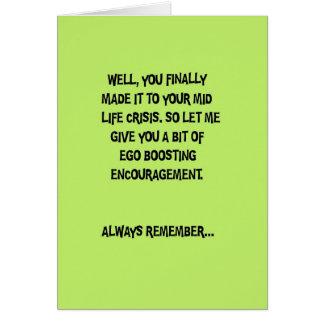 Mid Life Crisis Birthday Greeting Card