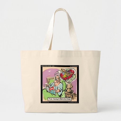 Mid Life Crisis Funny tees, gifts, cards mugs, etc Tote Bag